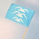 Småflagg med (påstiftet) trepinne