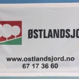 Liten banner med fire maljer