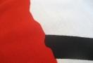 Silketrykket i to farger -rød + sort