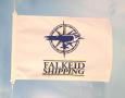 Flagg silketrykket to farger