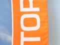 Silketrykk, en farge; orange