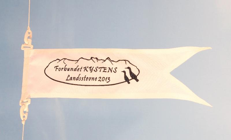 Lite flagg med splitt