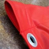 Kanal: (på bildet her er kanal med malje under): kanaler sys noen ganger i flaggets øvre kant, eller både øvre og nedre kant, slik at flagget kan tres på en horisontal stang eller bom.