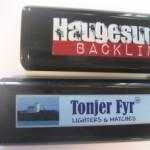 eksemple på digitaltrykkede lightere
