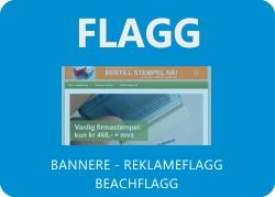 Bannere, reklameflagg og beachflagg