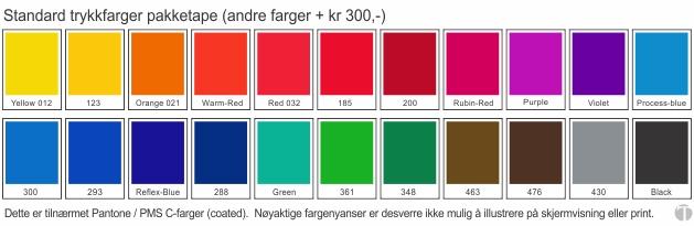 pakketape fargekart standardfarger-630pxl