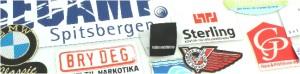 Stoffmerker med vevd logo