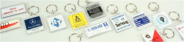 Nøkkelringer med reklame og logo fra fraktfritt levert i Norge